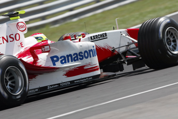 2004 Hungarian Grand Prix - Friday Practice,2004 Hungarian Grand Prix Budapest, Hungary. 13th August 2004 Ricardo Zonta, Toyota TF104. prepares for his first race for Toyota. Action. World Copyright: Steve Etherington/LAT Photographic ref: Digital Image Only