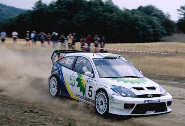 2003 World Rally ChampionshipRally Deutschland, Germany. 25th - 27th July 2003.Francois Duval/Stepane Prevot (Ford Focus RS WRC 03), action.World Copyright: McKlein/LAT Photographicref: 35mm Image A19