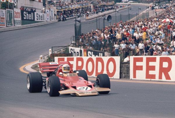 1970 Belgian Grand Prix.Spa-Francorchamps, Belgium.5-7 June 1970.John Miles (Lotus 72B Ford).Ref-70 BEL 77.World Copyright - LAT Photographic