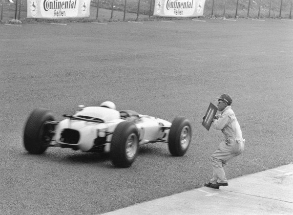 1964 German Grand PrixNurburgring, Germany. 31st July - 02nd AugustHonda take part in their first Grand Prix.World Copyright - LAT Photographic ref: B&W Negative Image no. L64/249/35