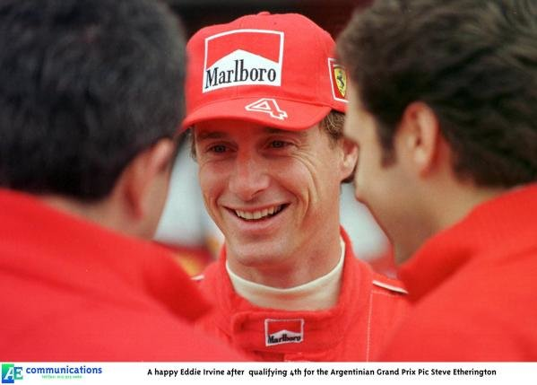 1998 Argentinian Grand Prix.Buenos Aires, Argentina.10-12 April 1998.Eddie Irvine (Ferrari).World Copyright - Steve Etherington/LAT Photographic
