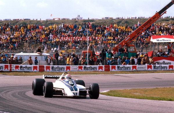 1980 Dutch Grand Prix.Zanvoort, Holland.29-31 August 1980.Nelson Piquet (Brabham BT49 Ford) 1st position.Ref-80 HOL 08.World Copyright - LAT Photographic