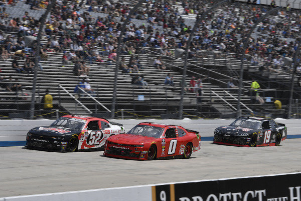 #0: Garrett Smithley, JD Motorsports, Chevrolet Camaro teamjdmotorsports.com and #52: David Starr, Means Motorsports, Chevrolet Camaro ATS