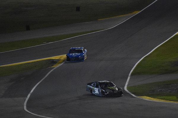 #54: Ty Gibbs, Joe Gibbs Racing, Toyota Supra Monster Energy and #22: Austin Cindric, Team Penske, Ford Mustang PPG