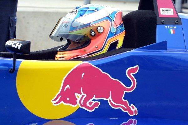 Vitantonio Liuzzi (ITA) Red Bull Team BSR.Rd2, Sachsenring Germany. 2 June 2002.PRESS