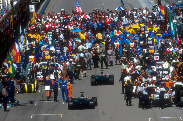 2001 American Grand PrixIndianapolis, United States. 30th September 2001.RacerWorld Copyright: LAT Photographicref: 18mb Digital Image