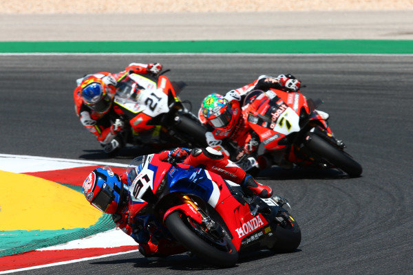 Leon Haslam, Team HRC, Chaz Davies, ARUBA.IT Racing Ducati.