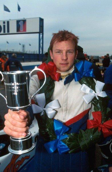 Kimi Raikkonen (FIN) Manor Motorsport won all the races in the series to win the championship. Formula Renault Winter Series, Donington Park, England, 21 November 1999.