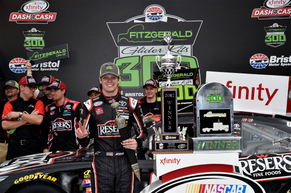 NASCAR Xfinity Series Fitzgerald Glider Kits 300 Bristol Motor Speedway, Bristol, TN USA Saturday 22 April 2017 Erik Jones, Reser's American Classic Toyota Camry World Copyright: Rusty Jarrett LAT Images ref: Digital Image 17BMS1rj_7609