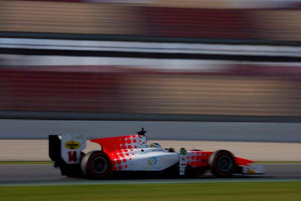 Circuit de Barcelona Catalunya, Barcelona, Spain. Monday 13 March 2017. Sergio Sette Camara (BRA, MP Motorsport). Action.  Photo: Alastair Staley/FIA Formula 2 ref: Digital Image 580A0093