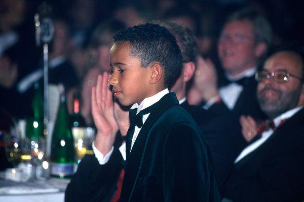 1995 Autosport Awards. Grosvenor House Hotel, Park Lane, London. 3rd December 1995. A very young Lewis Hamilton, portrait.  World Copyright: LAT Photographic. Ref:  Colour Transparency.