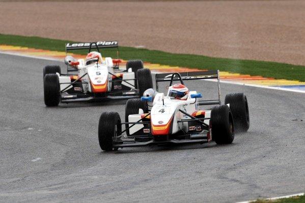 Race 2 winner Nicolas Prost (FRA), Campos Racing, leads second placed Adrian Campos Jr (ESP), Campos Racing.Spanish Formula Three Championship, Rds11&12, Valencia, Spain, 28-30 September 2007.
