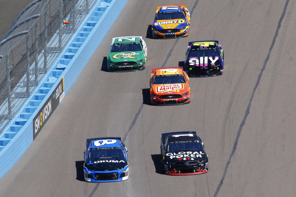#1: Kurt Busch, Chip Ganassi Racing, Chevrolet Camaro Global Poker and #8: Daniel Hemric, Richard Childress Racing, Chevrolet Okuma