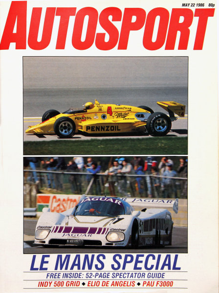 Cover of Autosport magazine, 22nd May 1986