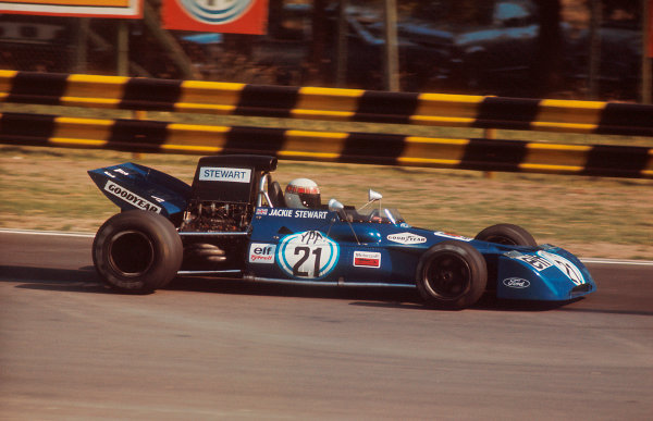 1972 Argentinian Grand Prix.Buenos Aires, Argentina. 21-23 January 1972.Jackie Stewart (Tyrrell 003 Ford) 1st position. Ref-72 ARG 13.World Copyright - LAT Photographic