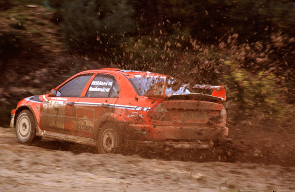 2001 World Rally Championship. Rally Portugal, Portugal. 8th-11th March 2001. Makinen race action. World Copyright: McKlein / LAT Photographic. Ref: Portugal A04