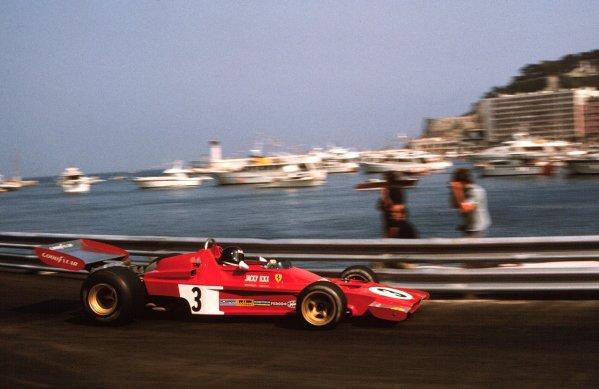 1973 Monaco Grand Prix.  Monte Carlo, Monaco. 31/5-3/6 1973.  Jacky Ickx (Ferrari 312B3).  Ref: 73MON69. World Copyright - LAT Photographic