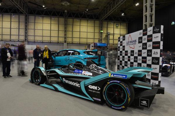 The Jaguar ipace etrophy and Formula E car.