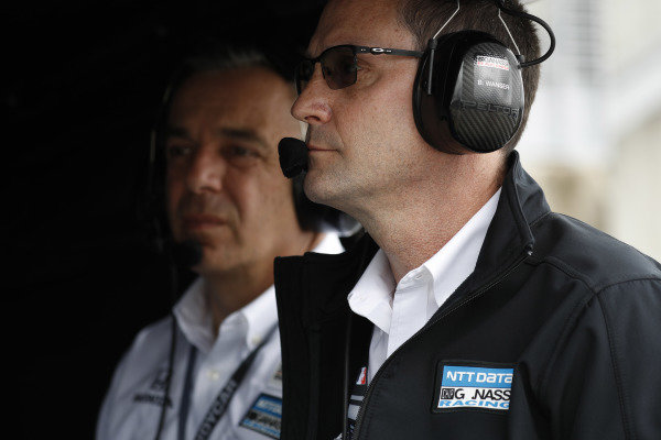 Felix Rosenqvist, Chip Ganassi Racing Honda, Barry Wanser, Doug Duchardt