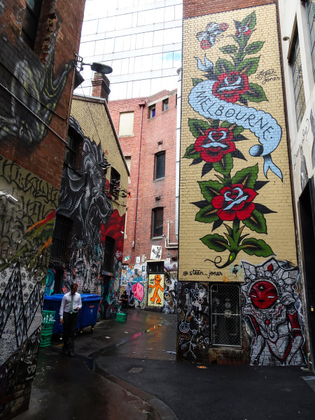 Melbourne, Australia Tuesday 21 March 2017. Melbourne street art Photo: Sam Bloxham/LAT ref: Digital Image DSC00059