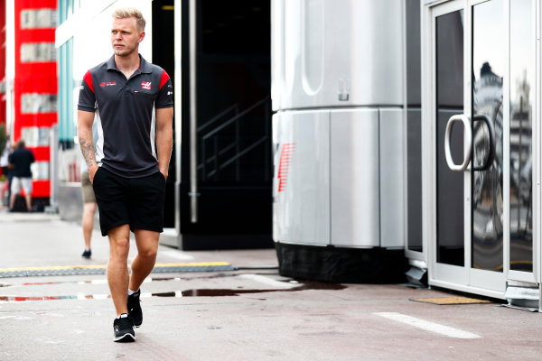 Monte Carlo, Monaco. Thursday 25 May 2017. Kevin Magnussen, Haas F1, in the paddock. World Copyright: Sam Bloxham/LAT Images ref: Digital Image _J6I0101