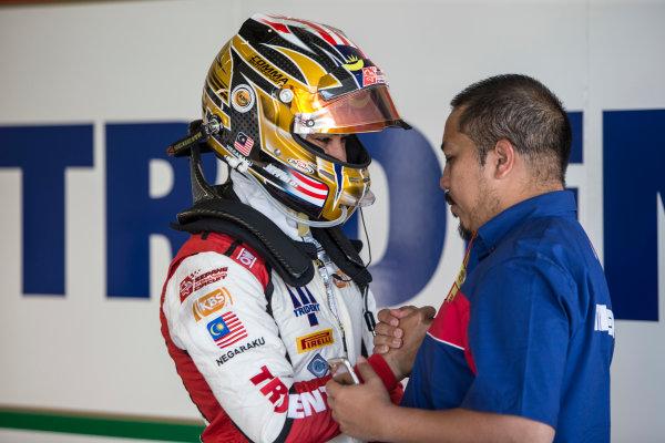 2017 FIA Formula 2 Round 10. Circuito de Jerez, Jerez, Spain. Saturday 7 October 2017. Nabil Jeffri (MAS, Trident).  Photo: Andrew Ferraro/FIA Formula 2. ref: Digital Image _FER1499