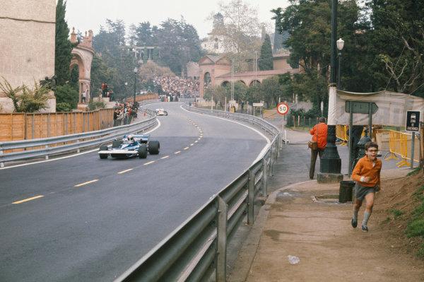 1971 Spanish Grand Prix.  Montjuich Park, Barcelona, Spain. 16-18th April 1971.  Jackie Stewart, Tyrrell 003 Ford, 1st position.  Ref: 71ESP05. World Copyright: LAT Photographic