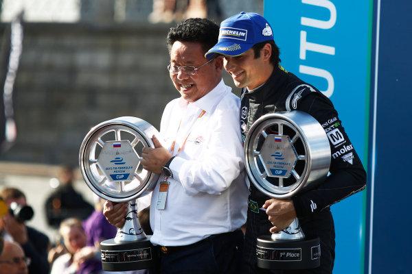 2014/2015 FIA Formula E Championship.  Moscow e-Prix, Moscow, Russia. Saturday 6 June 2015. Nelson Piquet Jr (BRA)/China Racing - Spark-Renault SRT_01E Photo: Sam Bloxham/LAT/Formula E ref: Digital Image _G7C4794