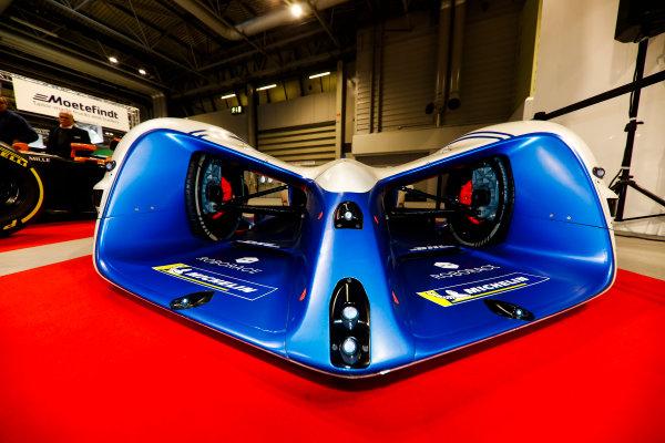 Autosport International Exhibition. National Exhibition Centre, Birmingham, UK. Friday 12th January 2018. A McLaren and Robocar next to the Autosport Stage. World Copyright: Glenn Dunbar/LAT Images Ref: _X4I8221
