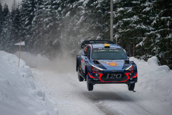 2018 FIA World Rally Championship, Round 02, Rally Sweden 2018, February 15-18, 2018. Andreas Mikkelsen, Hyundai, Action Worldwide Copyright: McKlein/LAT