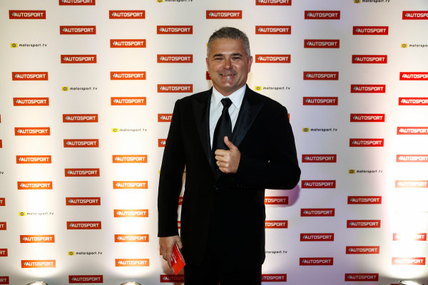 2017 Autosport Awards Grosvenor House Hotel, Park Lane, London. Sunday 3 December 2017. Gil de Ferran. World Copyright: Glenn Dunbar/LAT Images Ref: Digital Image _31I1529
