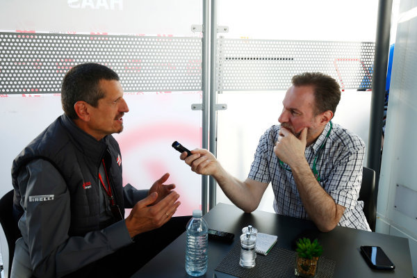 Circuit Gilles Villeneuve, Montreal, Canada. Thursday 08 June 2017. Guenther Steiner, Team Principal, Haas F1, is interviewed. World Copyright: Andy Hone/LAT Images ref: Digital Image _ONZ9774