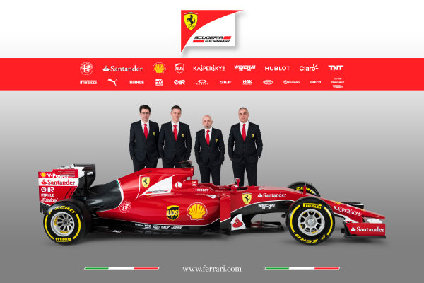 Ferrari SF-15T Reveal 30 January 2015 Technical Chief James Allison with the new Ferrari SF-15T. Photo: Ferrari (Copyright Free FOR EDITORIAL USE ONLY) ref: Digital Image 150005eve