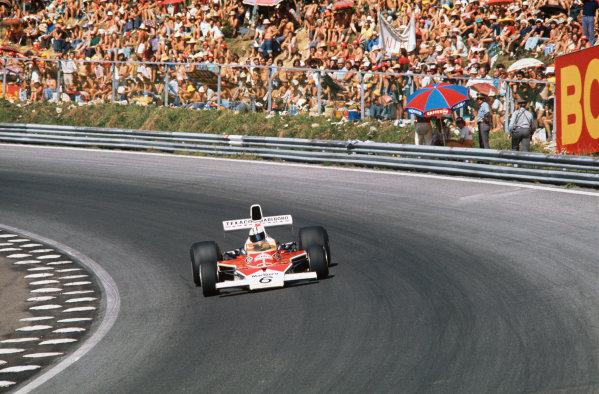 1974 Austrian Grand Prix  Osterreichring, Austria. 16-18th August 1974.  Denny Hulme, McLaren M23 Ford, 2nd position.  Ref: 74AUT05. World Copyright: LAT Photographic