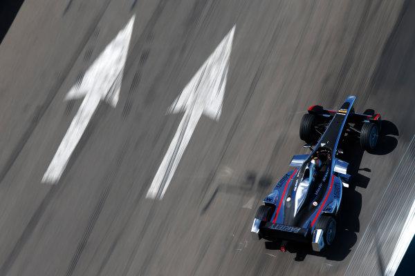 2014 Formula E  Punta Del Este e-Prix, Uruguay Sunday 14 December 2014. Oriol Servia (SPA)/Dragon Racing - Spark-Renault SRT_01E  Photo: Sam Bloxham/LAT/Formula E ref: Digital Image _14P6126