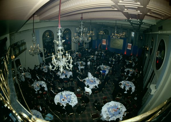 1989 Autosport Awards.Cafe Royal, London, Great Britain. 4 January 1990.General view of the dining room.World Copyright: LAT PhotographicRef: 35mm transparency