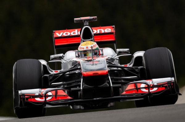 Spa-Francorchamps, Spa, Belgium 26th August 2011. Lewis Hamilton, McLaren MP4-26 Mercedes. Action.  World Copyright: Steve Etherington/LAT Photographic ref: Digital Image SNE20828