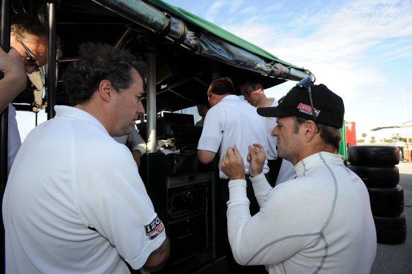 Rubens Barrichello (BRA), KV Racing, right. Rubens Barrichello IndyCar Test, Sebring, Florida, USA, Tuesday 31 January 2012.