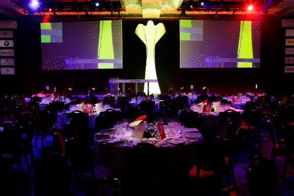 2013 Autosport Awards. Grosvenor House Hotel, Park Lane, London. Sunday 1st December 2013. A table in The Great Room. World Copyright: Adam Warner/LAT Photographic. ref: Digital Image _MG_9861