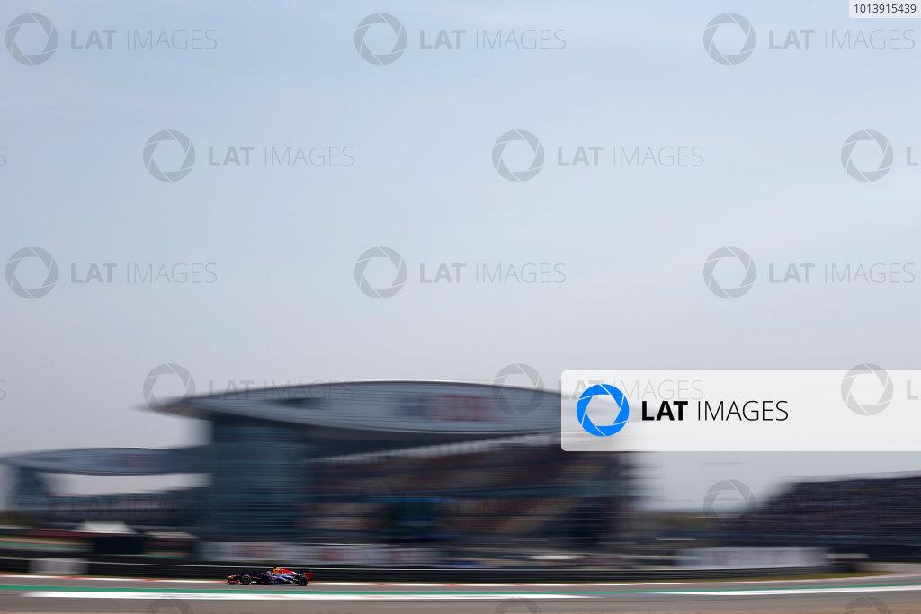 Shanghai International Circuit, Shanghai, China Saturday 13th April 2013 Sebastian Vettel, Red Bull RB9 Renault.  World Copyright: Glenn Dunbar/LAT Photographic ref: Digital Image _89P6317