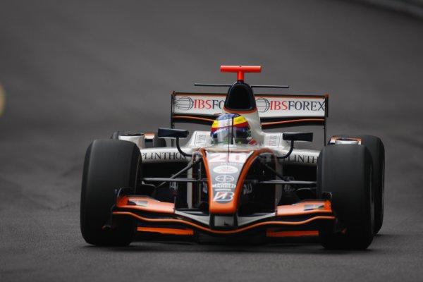 2008 GP2 Series. Round 3. Friday Race. Monte-Carlo, Monaco. 24th May 2008.Mike Conway (GBR, Trident Racing). Action. World Copyright: Glenn Dunbar/GP2 Series Media Service.ref:__O9T8896 jpg
