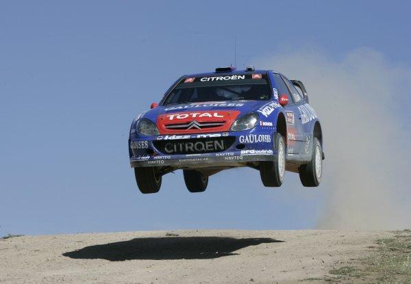 2006 FIA World Rally Championship.Round 7. 18th - 21st May 2006.Rally of Italy, Sardinia.Sebastien Loeb, Citroen, Action.World Copyright: McKlein/LAT
