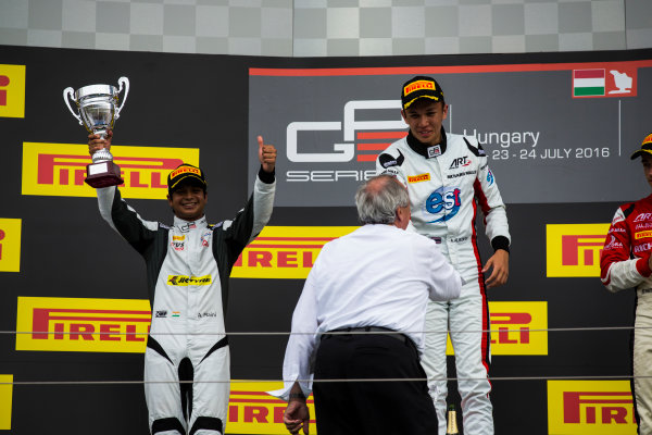 2016 GP3 Series Round 4 Hungaroring, Budapest, Hungary. Sunday 24 July 2016. Arjun Maini (IND, Jenzer Motorsport)  Photo: Sam Bloxham/GP3 Series Media Service. ref: Digital Image _SBB8299