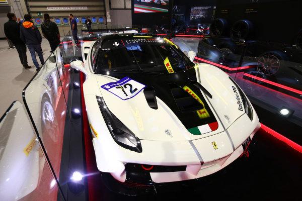 Autosport International Exhibition. National Exhibition Centre, Birmingham, UK. Sunday 14th January 2018. A Ferrari 488 on display.World Copyright: Mike Hoyer/JEP/LAT Images Ref: AQ2Y0111