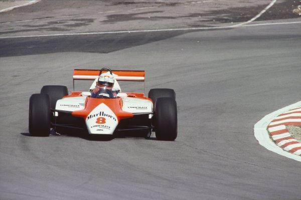 1982 British Grand Prix.Brands Hatch, Great Britain. 18 July 1982.Niki Lauda, McLaren MP4/1B-Ford, 1st position, action.World Copyright: LAT PhotographicRef: 35mm transparency 82GBR