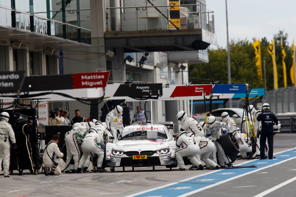 2014 DTM Championship Round 7 - Nurburgring, Germany 15th - 17th August 2014 Pitstop, Martin Tomczyk (GER) BMW Team Schnitzer BMW M4 DTM World Copyright: XPB Images / LAT Photographic  ref: Digital Image 3256948_HiRes