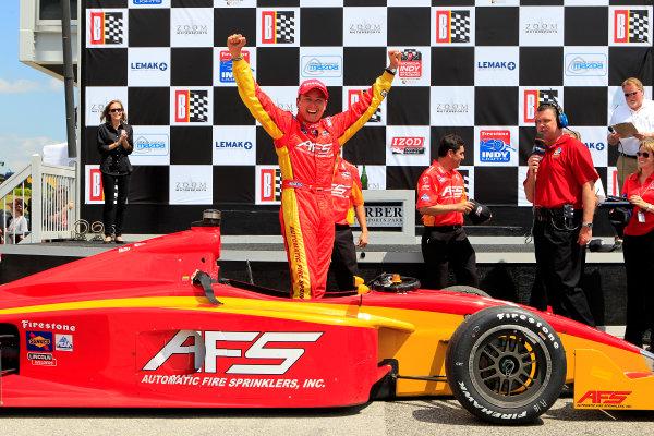 30 March - 1 April , 2012, Birmingham, Alabama USASebastian Saavedra celebrates in victory lane.(c)2012, Phillip AbbottLAT Photo USA