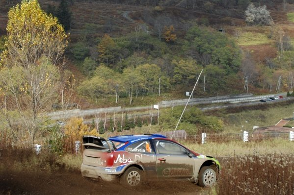 Jari-Matti Latvala (FIN), Ford Focus WRC, on stage 2.World Rally Championship, Rd14, Rally Japan, Sapporo, Japan, Day One, Friday 31 October 2008.