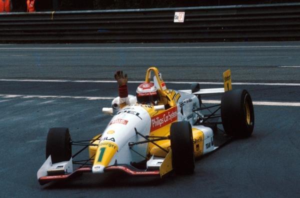 Race winner Jos Verstappen (NED) Dallara 393-Opel was a convincing series champion.German Formula Three Championship, Avus, Germany, 12 September 1993.