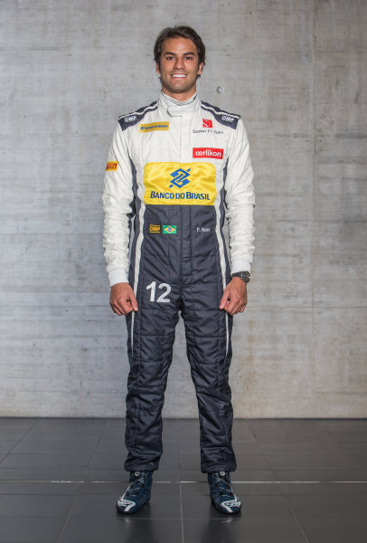 Sauber C34 Reveal. Hinwil, Switzerland. Thursday 29 January 2015. Felipe Nasr. Photo: Sauber F1 Team (Copyright Free FOR EDITORIAL USE ONLY) ref: Digital Image 20150130_Felipe_Nasr_Front